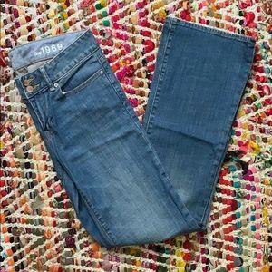 Medium Wash Boot-Cut Jeans